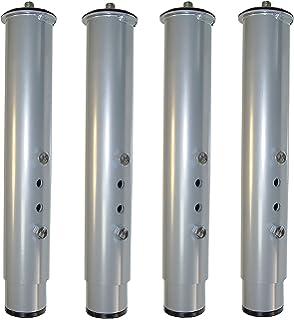 Pack 4 patas para somier o base tapizada cilindricas, altura especial 40 cm: Amazon.es: Hogar