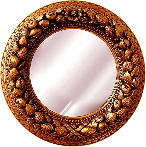 Hickory Manor House Nut Ring Medallion Mirror, Bronze