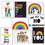 Gay Pride Rainbow Greeting Cards - 24 LGBTQ Blank Pride Greeting Cards to Celebrate Pride Month or Coming Out   Rainbow Pride
