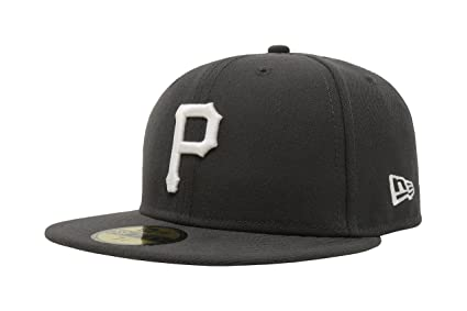timeless design 8dd66 1b6c2 New Era 59Fifty Hat Pittsburgh Pirates gary Fitted Cap (6 7 8)