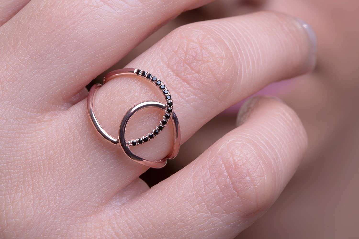 Diamond wire ring, Diamond infinity ring, Twisted ring, Infinity ...