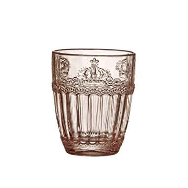 8f3730ab95 Amici Home, A7CHN412S6R, Victoria Crown Collection Rose Quartz Double Old  Fashioned Drinking Glass,