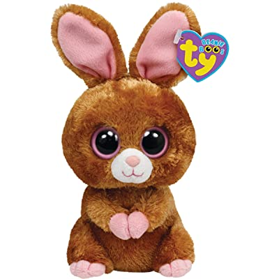 "Ty Beanie Boos Hopson Brown Bunny 6"" Plush: Toys & Games"