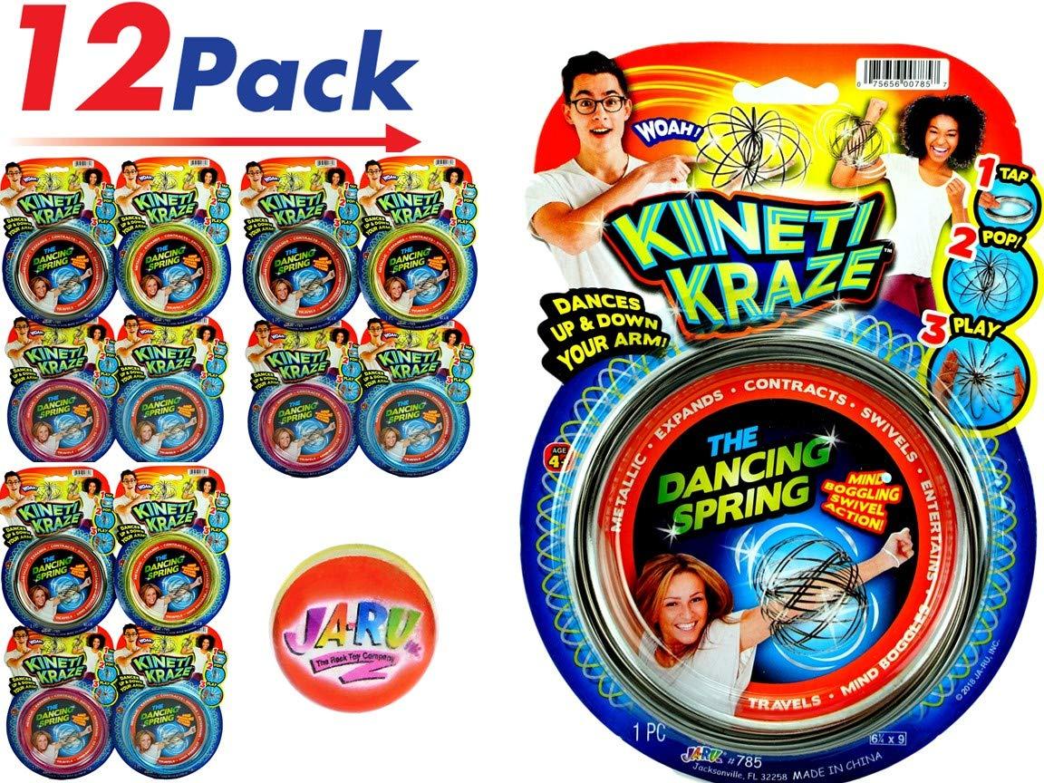 JA-RU Kinetic Flow Ring Sensory Toys (12 Pack) Autistic Children Stress Relief Toys Sensory Rings Metal Slinky Fidget Bracelet Magic Ring Arm Slinky Weird Stuff Spiral Bracelet | Item #785-12 by JA-RU