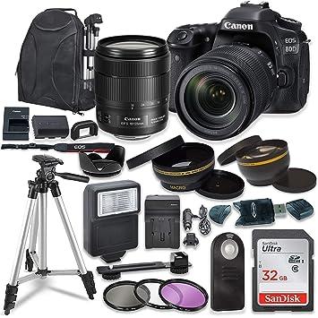 Amazon.com: Canon EOS 80D Cámara réflex digital con Canon EF ...