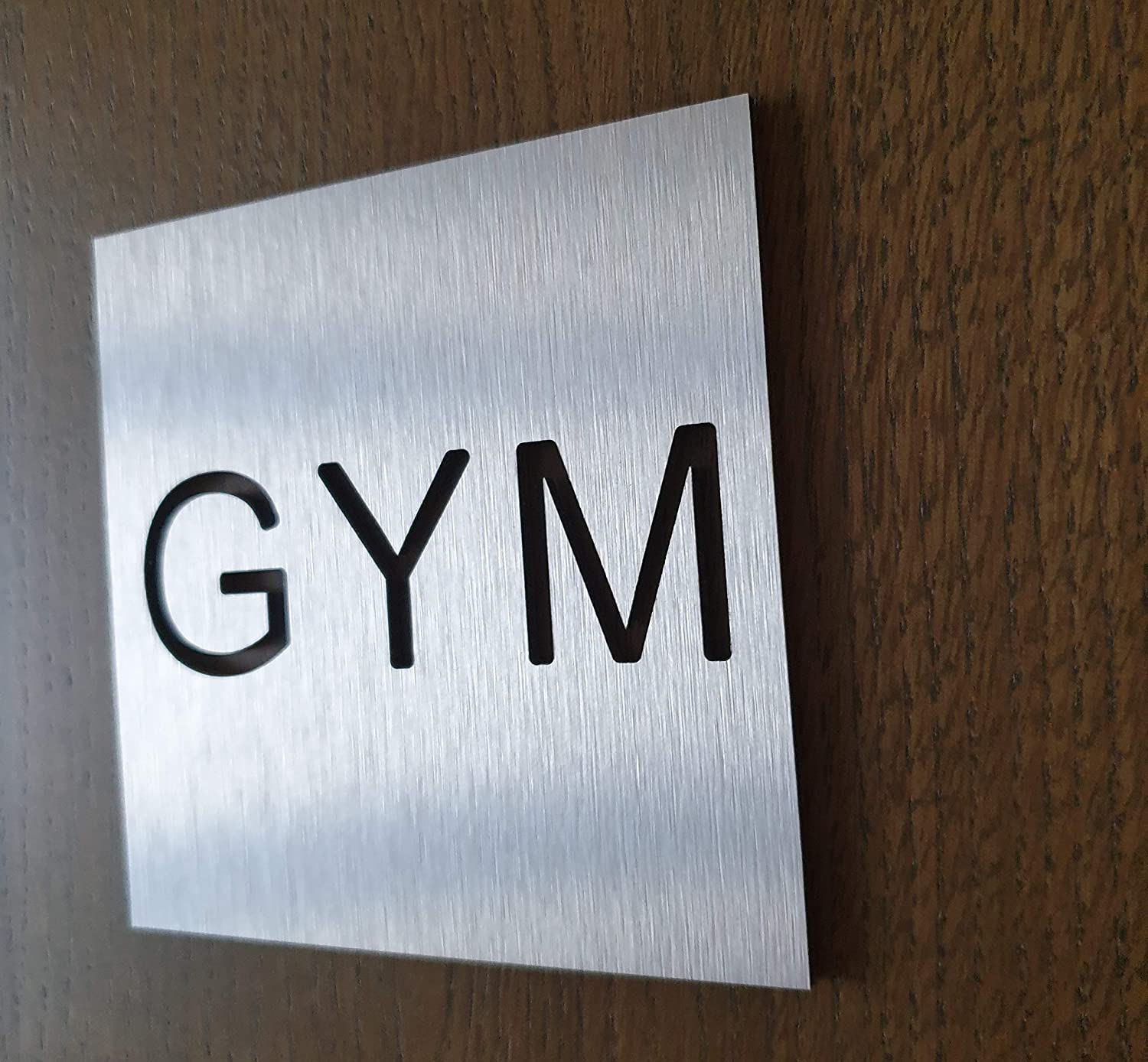 modern gym decor home gym workout decal Gym door sticker BSYDESIGN Aluminium Training room sign fitness wall art plaque Gym Door sign informative sign for yoga Training business signage