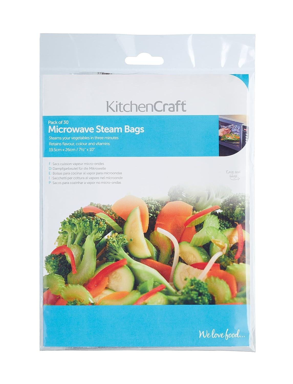 Kitchen Craft Bolsas para Cocinar al Vapor para Microondas ...