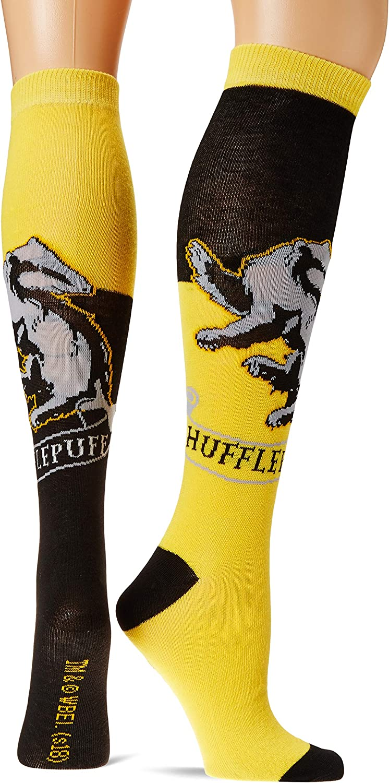 Shoe Size 4-10 Harry Potter Hufflepuff House Knee High Socks Multi