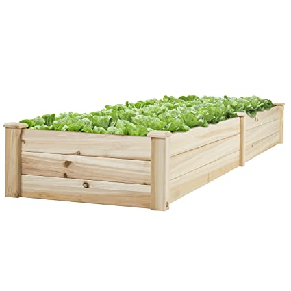 Best Choice Products Vegetable Raised Garden Bed Patio Backyard Grow  Flowers Elevated Planter