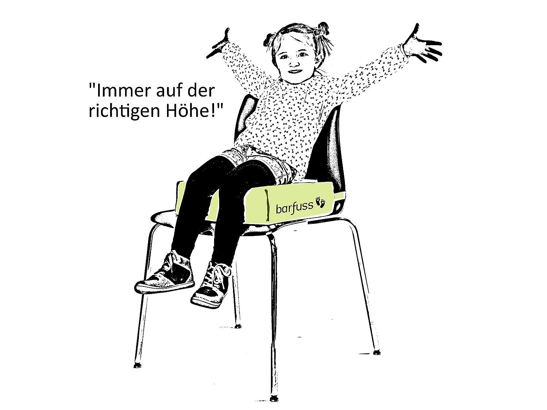 barfuss Stuhl Sitzerh/öhung f/ür Kinder Kleinkinder ab ca 3 Jahre Federn