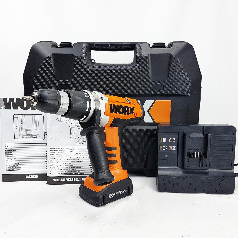 Worx - Atornillador de Batería (18 V, 2 velocidades, batería ...