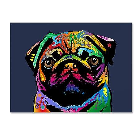 Pug Dog by Michael Tompsett, 35×47-Inch Canvas Wall Art
