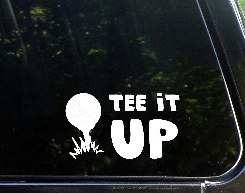 "Sweet Tea Decals Golf-Tee It Up - 6 1/2"" x 3 3/4"" - Vinyl Die Cut Decal/Bumper Sticker for Windows, Trucks, Cars, Laptops, Macbooks, Etc."