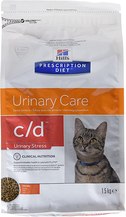 Hill`s Alimento Dietético para Gato C/D Urinary Stress - 1,5 kg: Amazon.es: Productos para mascotas