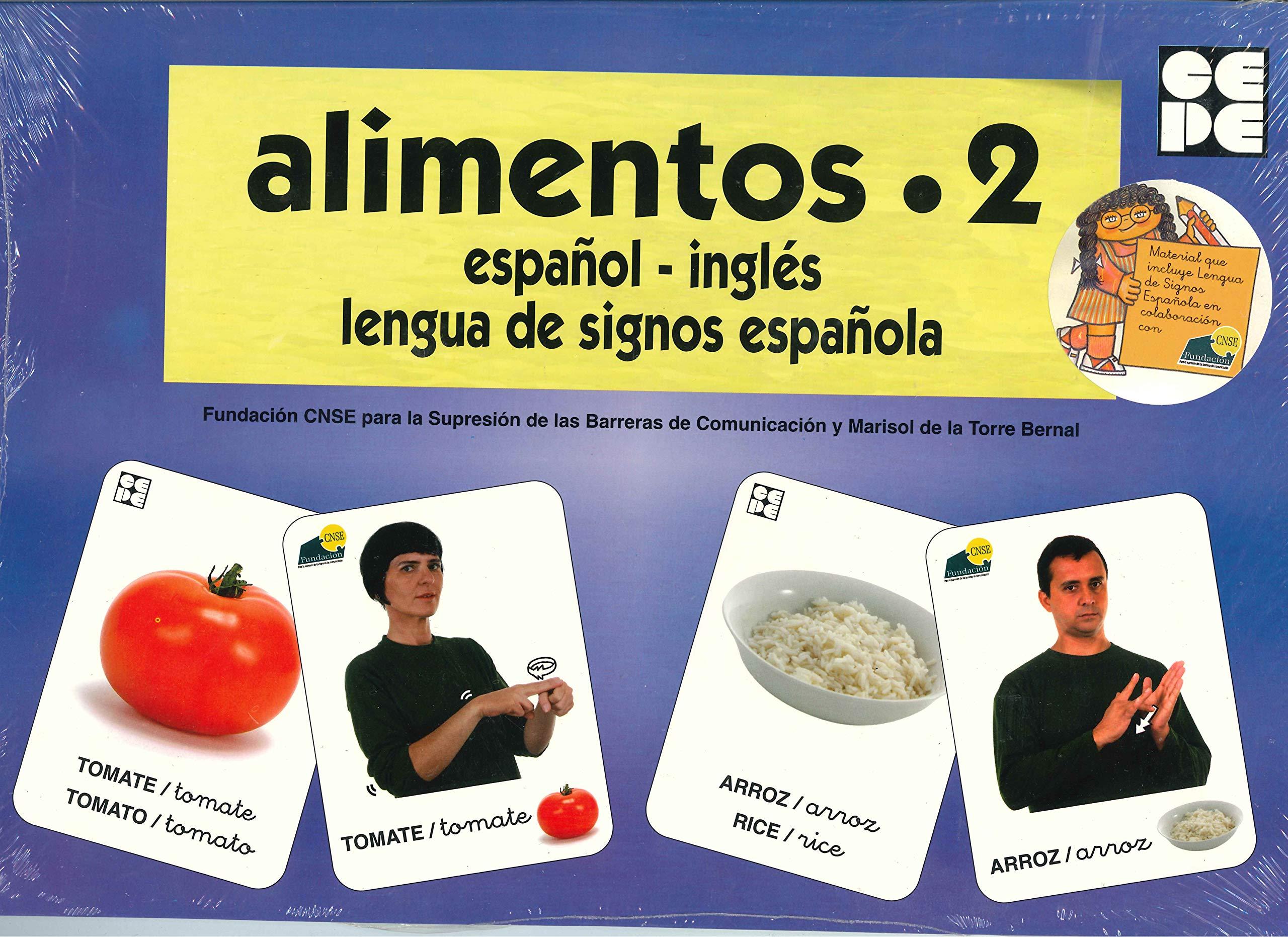 Vocabulario fotográfico elemental - Alimentos 2 verduras Vocabulario fotográfico elemental español,inglés,lengua de signos española: Amazon.es: CNSE, Fundación, de la Torre Bernal, Marisol: Libros