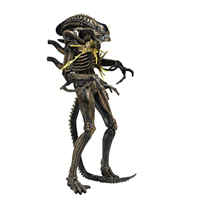 "NECA - Aliens 7"" scale action figure - Series 12 Xenomorph Warrior Brown (Battle Damaged): Toys & Games"
