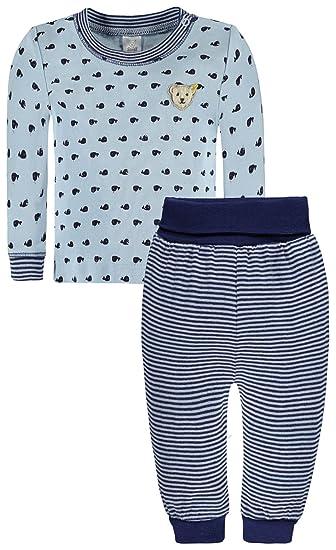 Steiff bebé joven Pijama azul 74