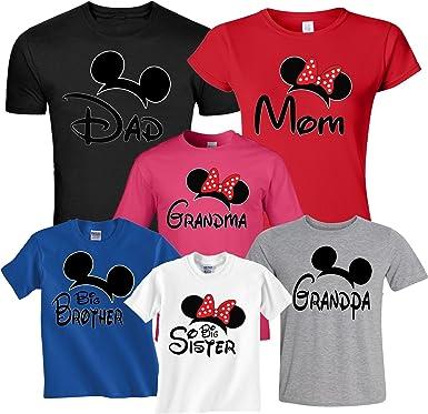 8e761c353 Arts & Designs Mickey & Minnie Family Vacation Birthday Custom Matching  Shirts XS Youth (5