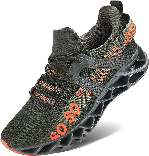 Jsleap Sneakers Herren Damen Unisex Armeegrün