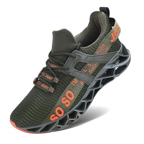 JSLEAP Herren Sneaker Herren Laufschuhe Leichte Klinge Fitness Straße Wanderschuhe Atmungsaktiv rutschfeste Mode Lässig Sneaker
