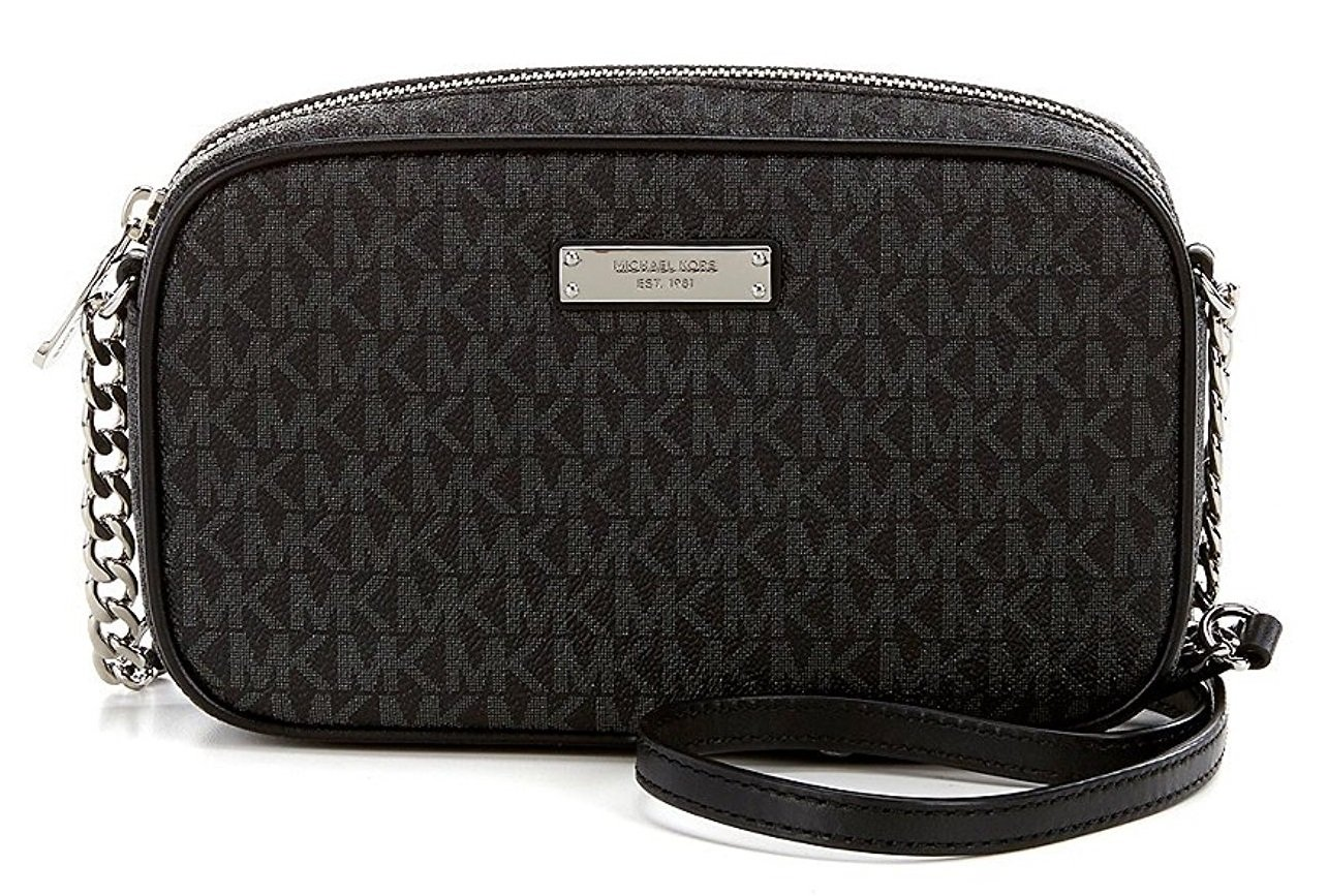 Michael Kors Jet Set Travel Medium East West Crossbody - Black - 32S7SJSC2B-001