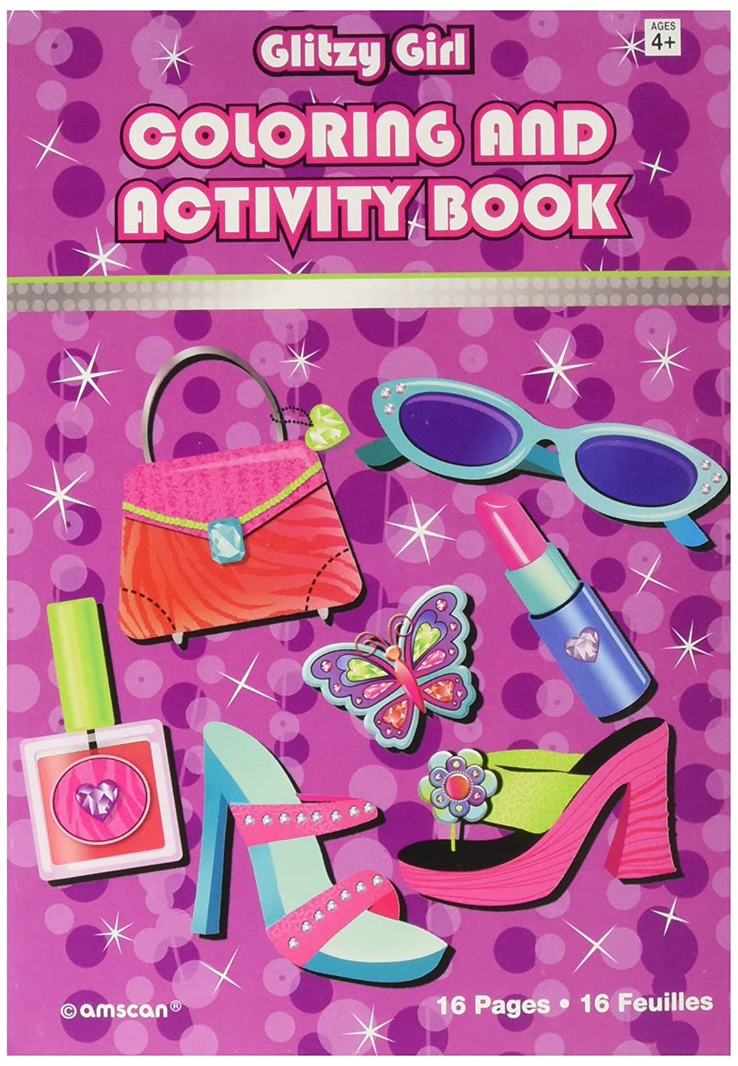 Amscan Party Perfect Glitzy Girl Coloring and Activity Book Favors 5 X 7