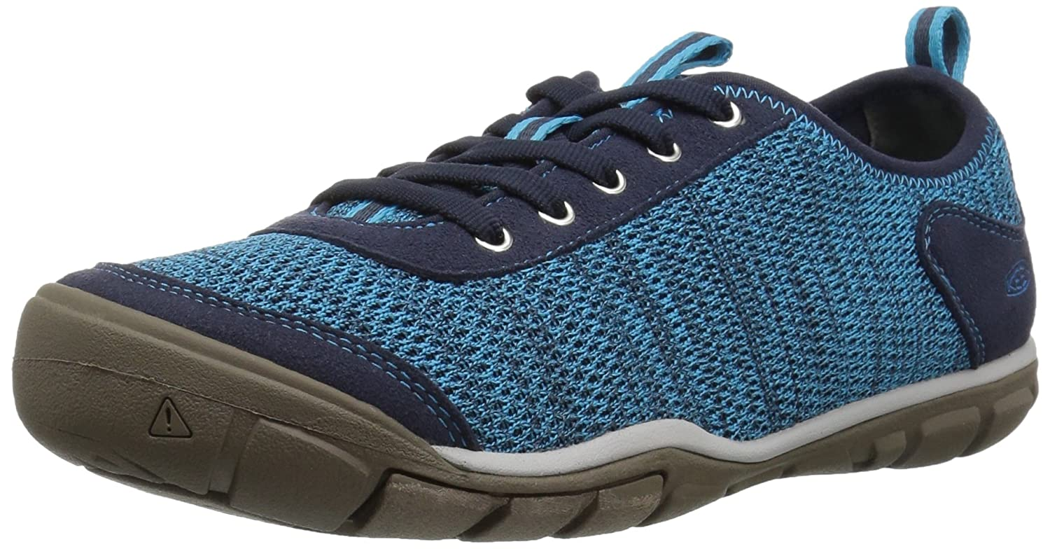 KEEN Women's Hush Knit-W Hiking Shoe B06ZXZ893Y 11 B(M) US|Vivid Blue/Dress Blue