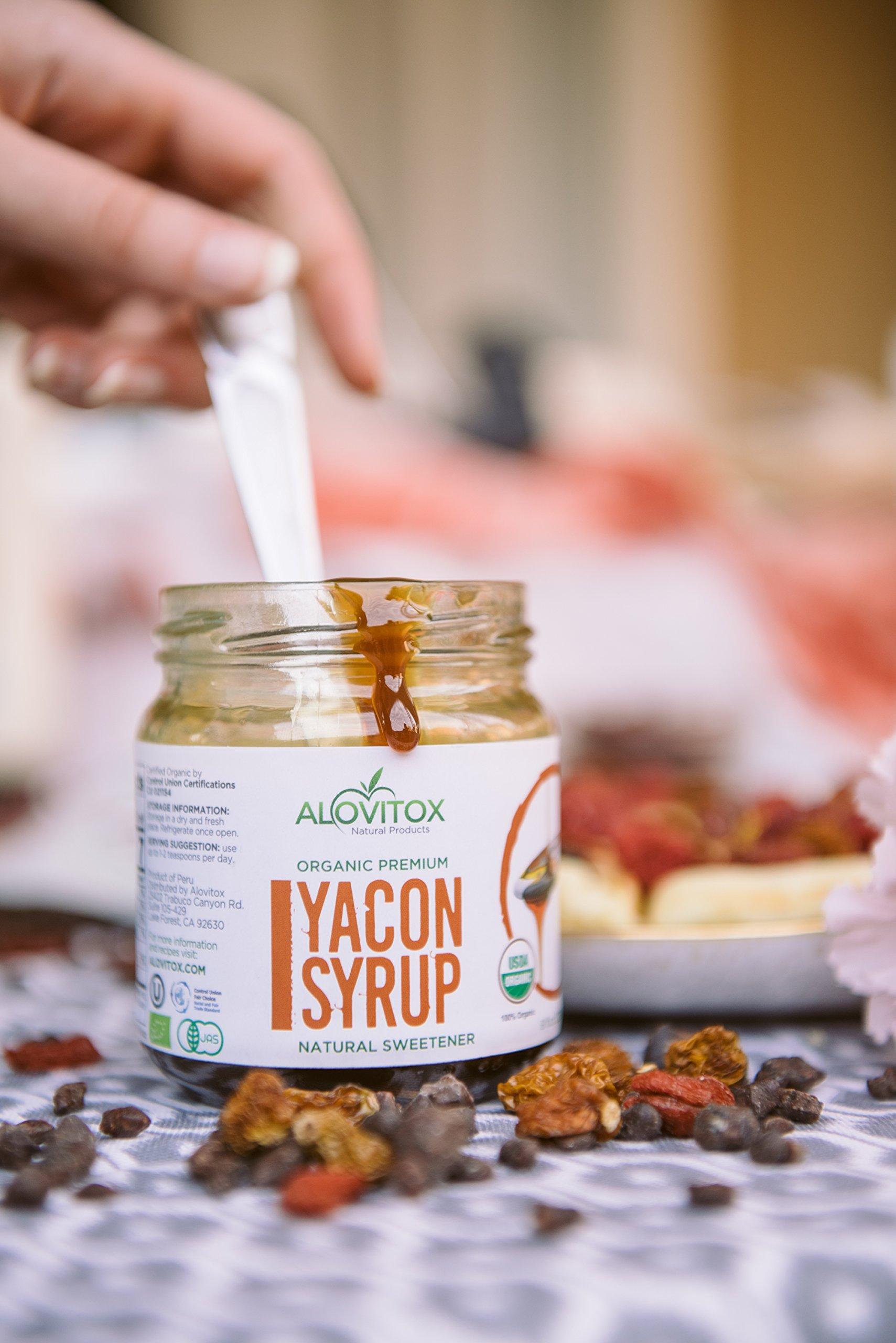 4 Pack Yacon Syrup - USDA Certified Organic Natural Sweetener - All-Natural Sugar Substitute - 8 Oz. SafeGlass Jar - Keto Vegan & Gluten Free by Alovitox (Image #9)