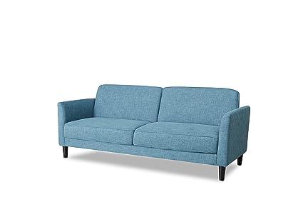 Amazon.com: fat june Segovia Sofa, Blue: Kitchen & Dining