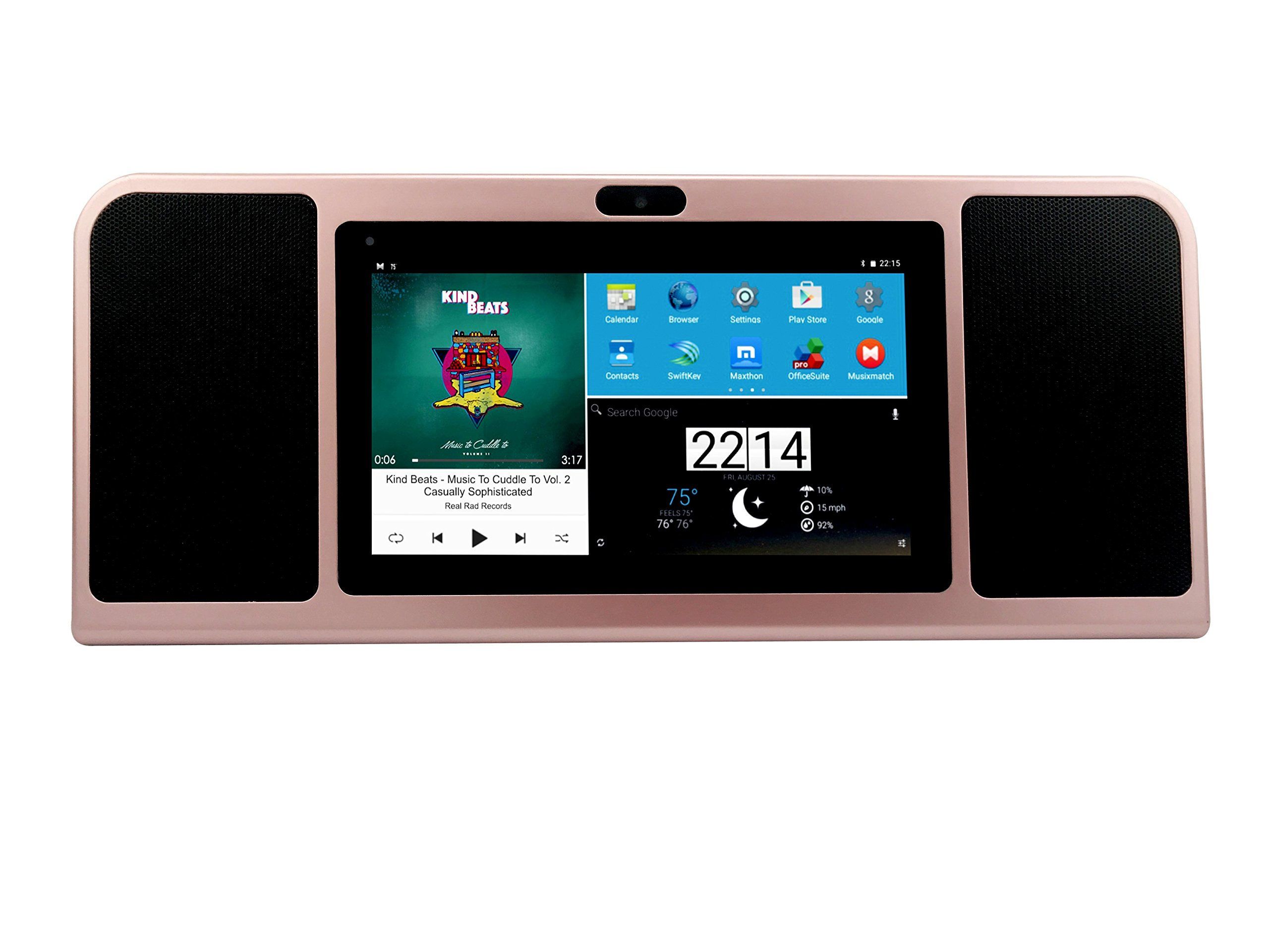 Azpen A770 TableTop 7 inch Tablet with BoomBox Speakers(Rose Gold)