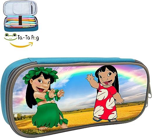 HUANSHAA Lilo & Stitch - Estuche para lápices, bolsa de maquillaje, neceser para cosméticos, duradero, para estudiantes: Amazon.es: Oficina y papelería