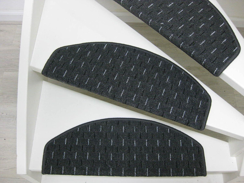 15 Tappeti per scalini - passatoie per singoli gradini Lobamba 65x24x4cm nei grigio antracite Teppichwahl