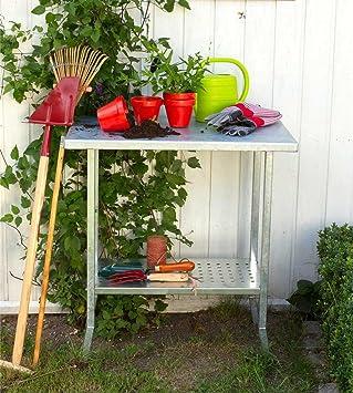 Pflanztisch Gärtnertisch Gartentisch Blumentisch Metall Pflanztisch 75x45x80 cm