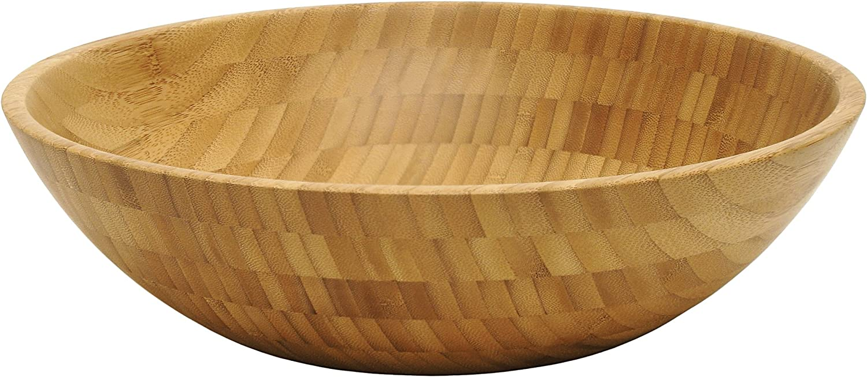 Lipper International Bamboo Wood Salad Bowl