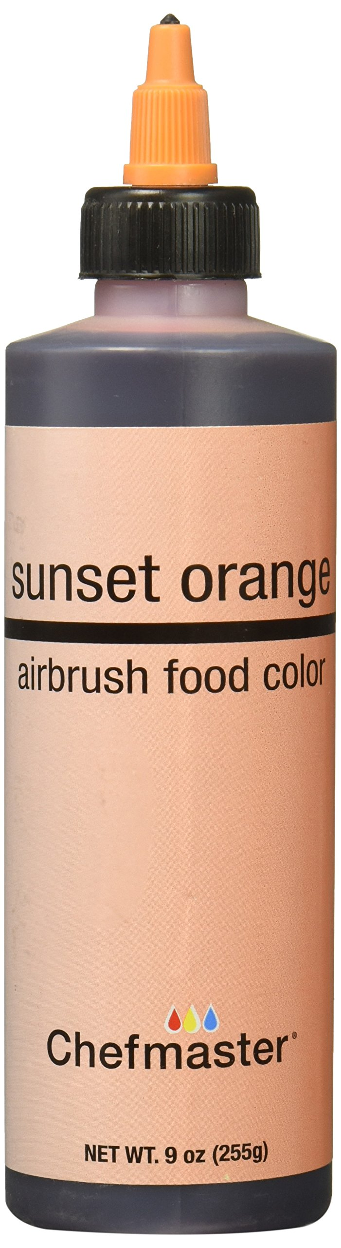 Chefmaster Airbrush Spray Food Color, 9-Ounce, Orange