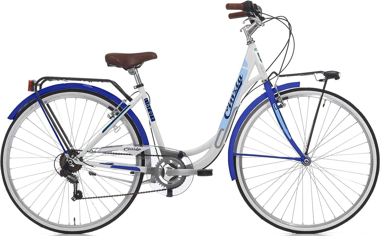 Cicli Cinzia Bicicleta Liberty Mujer, Marco de Acero, 6 Marchas ...