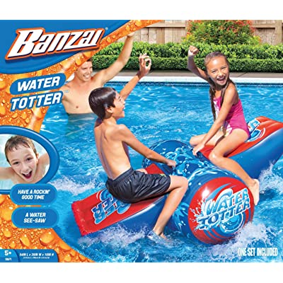 Banzai Water-Totter Rocker Inflatable Water See-Saw Pool Ride-On Splash: Toys & Games