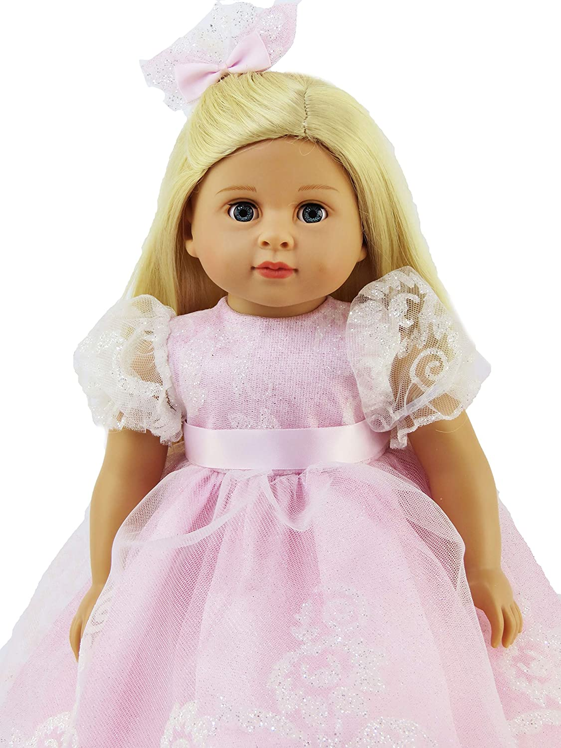 """Silver Princess Tiara w Gift Box fit 18/"""" American Girl and Our Generation dolls"""