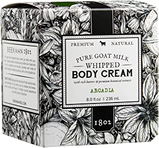 product image for Beekman 1802 - Whipped Body Cream - Arcadia - Goat Milk Body Butter, Daily Hydration for Dry Skin - Naturally Exfoliating Body Cream - Good for Sensitive Skin - Goat Milk Bodycare - 8 oz