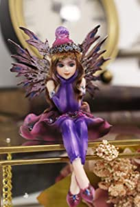 Ebros Pretty Girl Fairy in Pink and Purple Snow Winter Evening Gown Clothing Shelf Sitter Figurine Whimsical Fantasy Faerie Decor Collectible Statue As Gift Ideas for Women Girls Birthdays
