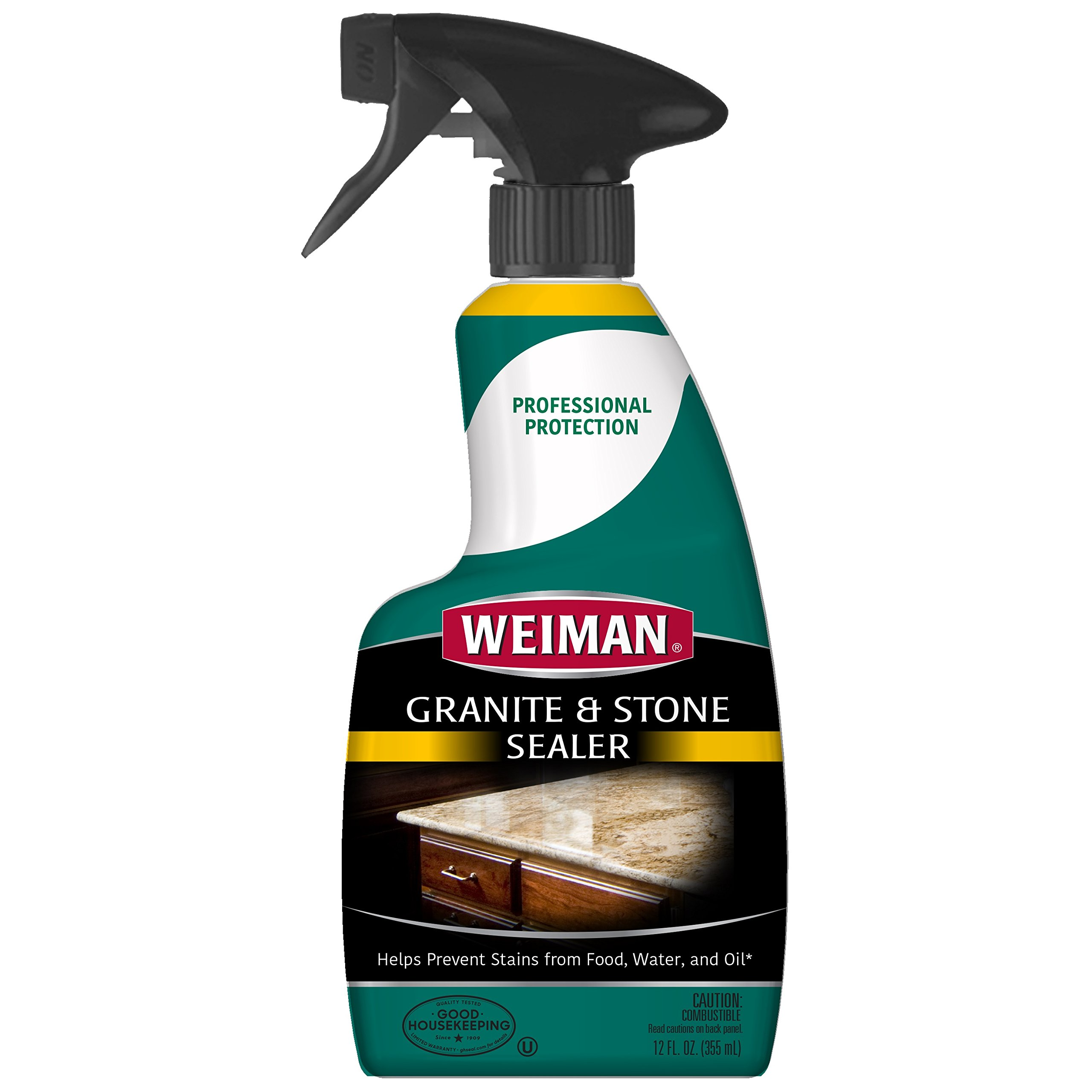 Weiman Granite Stone Sealer - 12 Ounce - For Granite Marble Soapstone Quartz Quartzite Slate Limestone Corian Laminate Tile Countertop and More