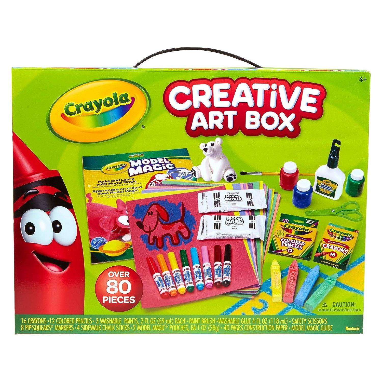 amazon com crayola creative art box 80pc everything else