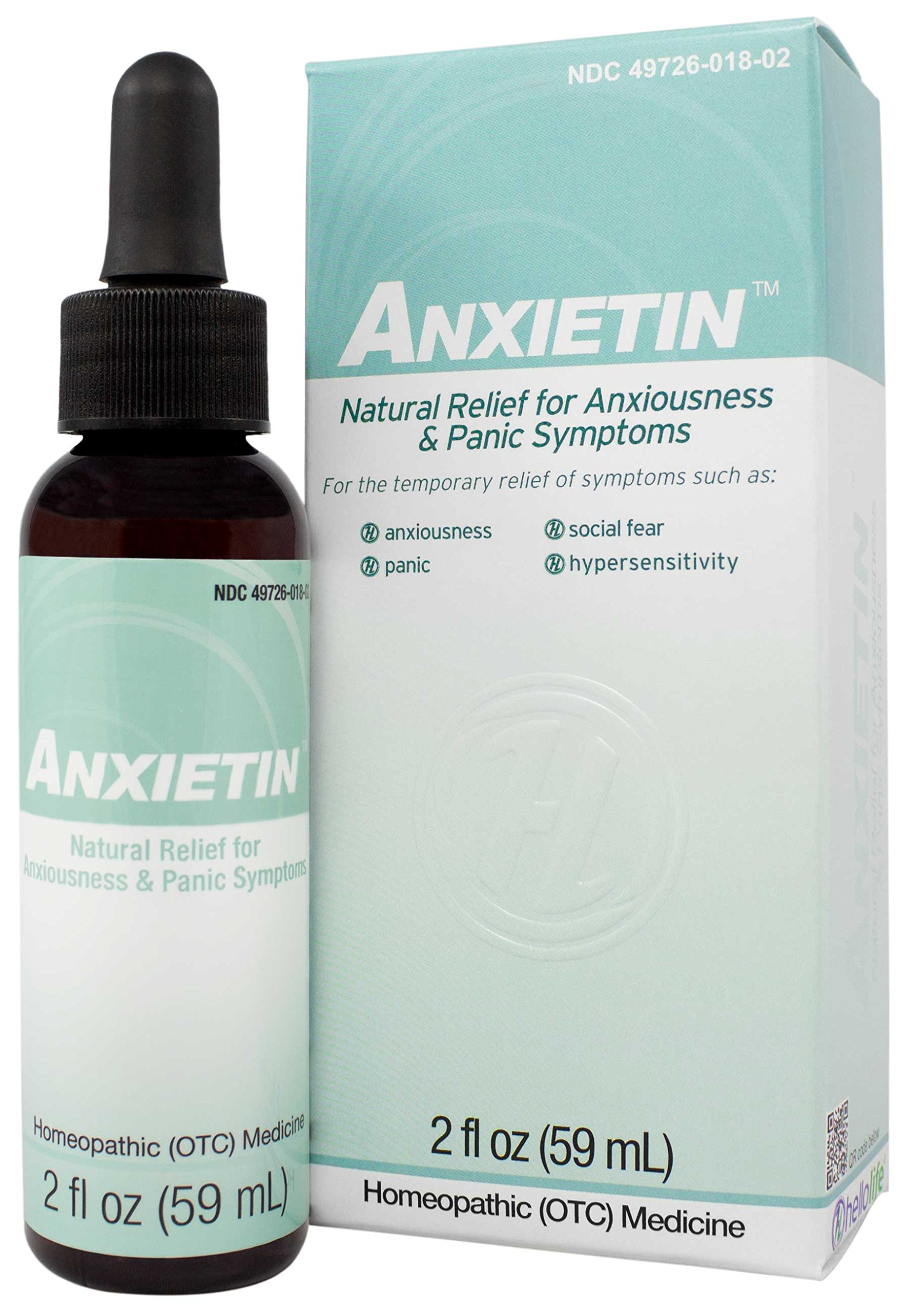 HelloLife Anxietin - Natural Homeopathic for Anxiety Relief