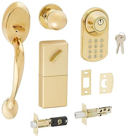 MiLocks BTF 02P Digital Deadbolt Door Lock And Passage Handle Set Combo  With Keyless Entry