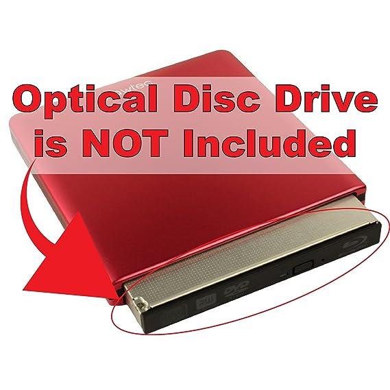 Amazon.com: Pawtec Slim Aluminum USB 3.0 External Enclosure For Optical SATA Drive Blu-Ray DVD MAC/PC (Red): Computers & Accessories
