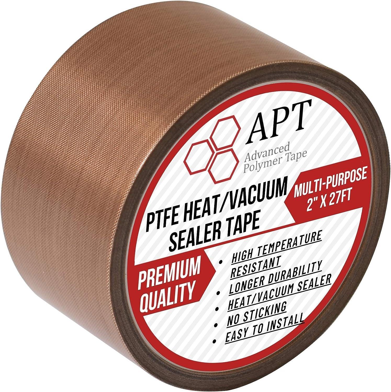 APT Teflon PTFE Glass Cloth Tape, High Temperature, Vacuum bag tape, Weston vacuum sealer parts ,Food saver sealer parts, Seal A Meal, Cabella's and Many More (2