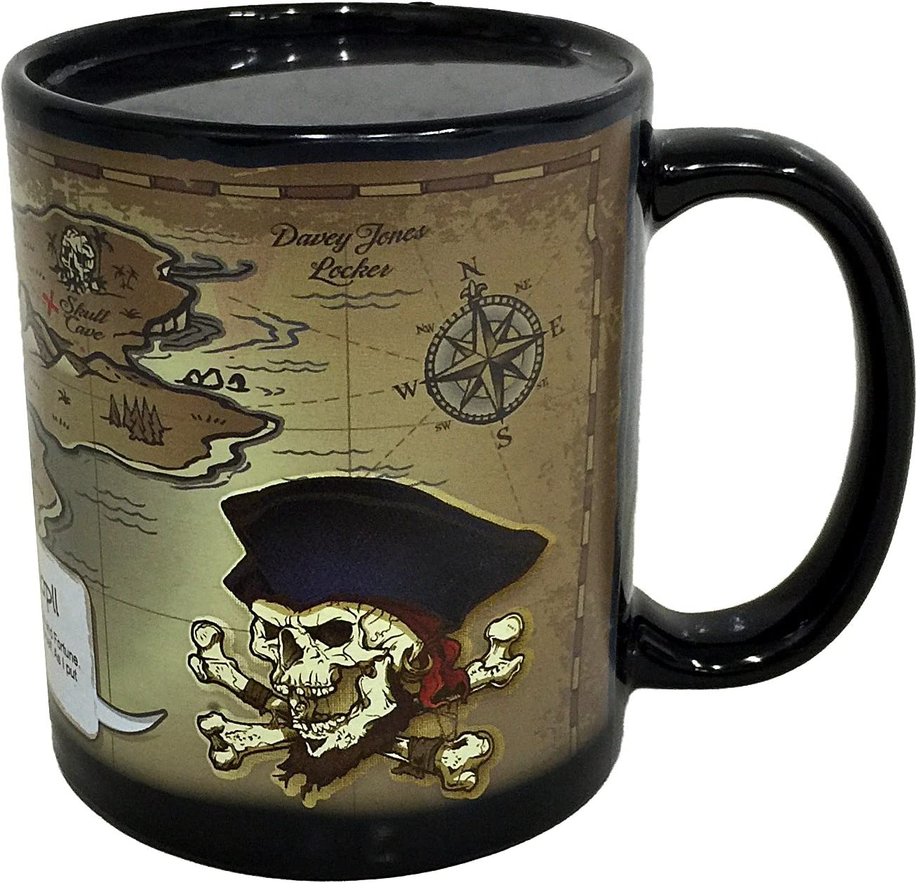 Tesoro dei pirati mappa teschio nero Design,Filtro lavabile in polvere e copri bocca riutilizzabile Faccia in antivento