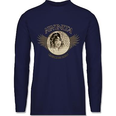 Shirtracer Vintage - Awinita - Cherokee Mädchen - S - Navy Blau - BCTU005 -  Herren