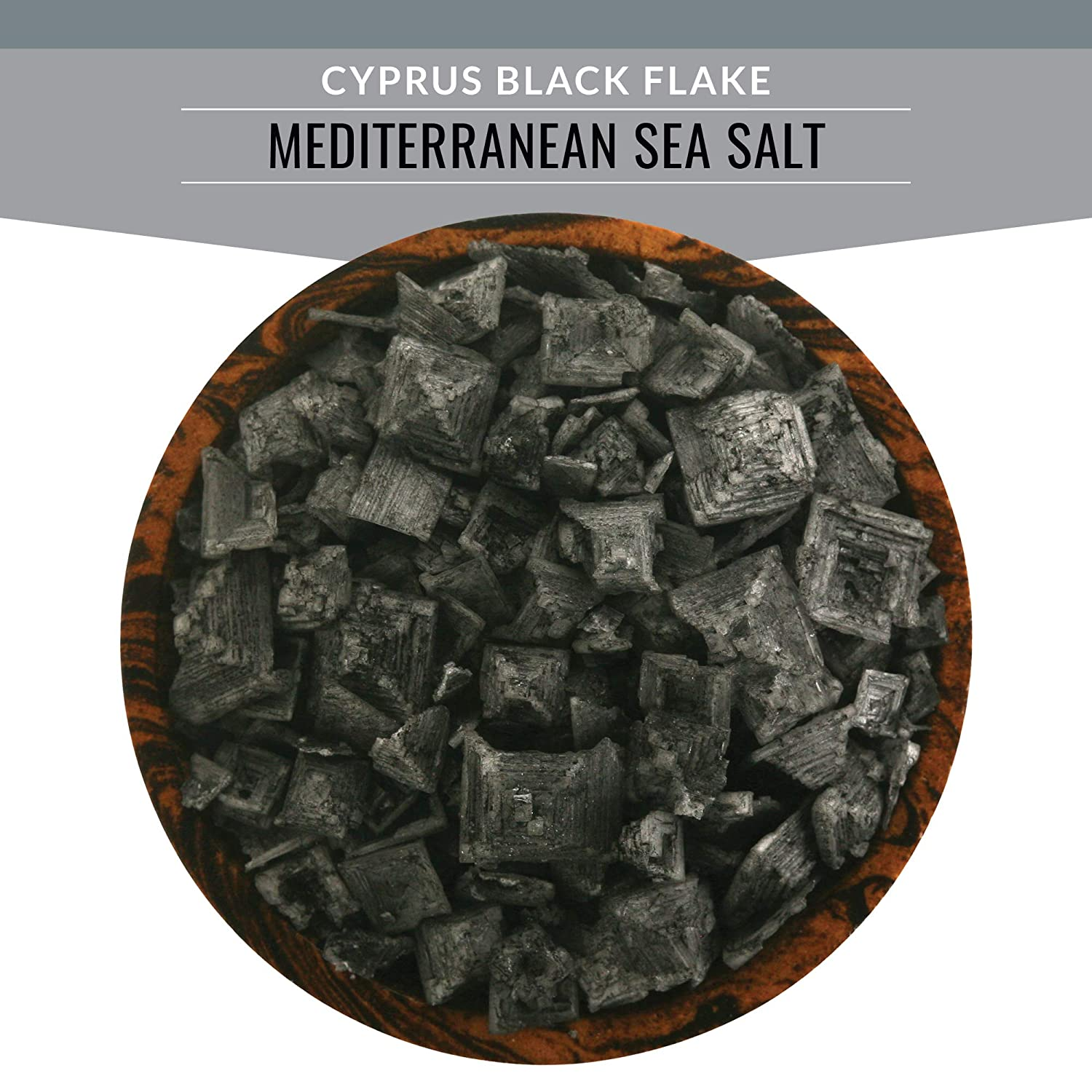 SaltWorks Cyprus Black Mediterranean Sea Salt Flakes, Artisan Zip-Top Pouch, 2.5 Ounce : Grocery & Gourmet Food