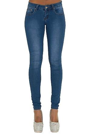 LustyChic Damen Skinny Jeanshose blau blau Gr. 34, blau